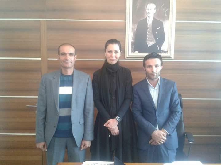 Ak Parti genel başkan yardımcısı sayın Çiğdem Karaaslan'ı makamında ziyaret ettik