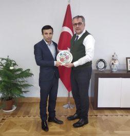 Çevre ve Şehircilik Bakan Yardımcısı Sayın Mehmet Emin Birpınar'ı makamında ziyaret ettik