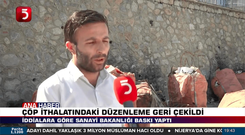 TÜRKİYE ÇÖP İTHAL EDİYOR – TV5 Röportajımız