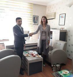 Hollanda büyük elçisi sayın MARJANNE DE KWAASTENİET Derneğimiz Ziyarette Bulundular