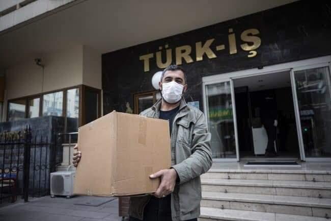 Türk-İş Sendikasından Gıda Yardımı